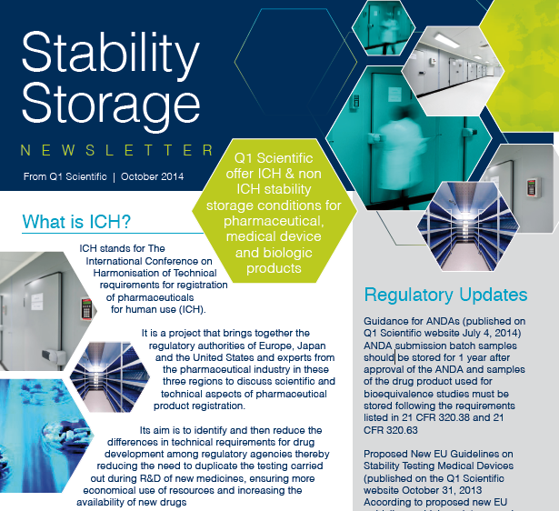 Q1 Scientific Stability Storage Newsletter